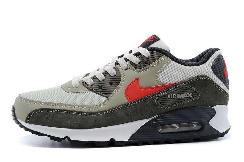 e75a3bf1d4b9 Men s Sneakers Nike Air Max 90 Essential White   Gray   Red 2018 ...