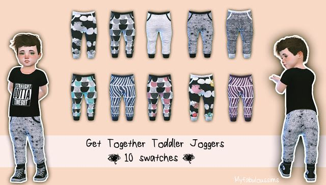 432936e03 Sims 4 CC s - The Best  TODDLER JOGGERS by My Fabulous Sims ...