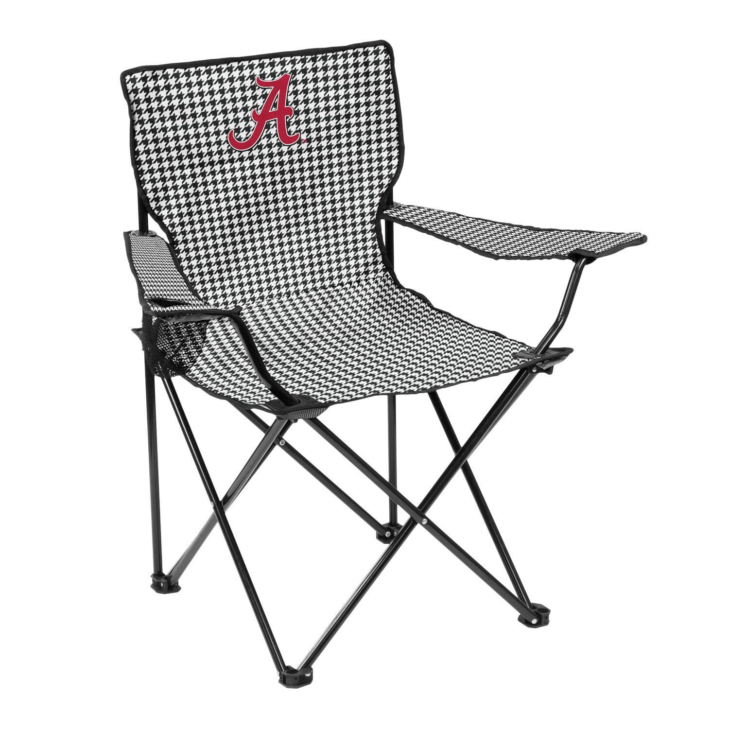 Beau Logo Chair Alabama Houndstooth Quad Chair   You Just Canu0027t Properly  Tailgate Without The Complete Set Of Tide Gear, And That Includes The Logo Chair  Alabama ...