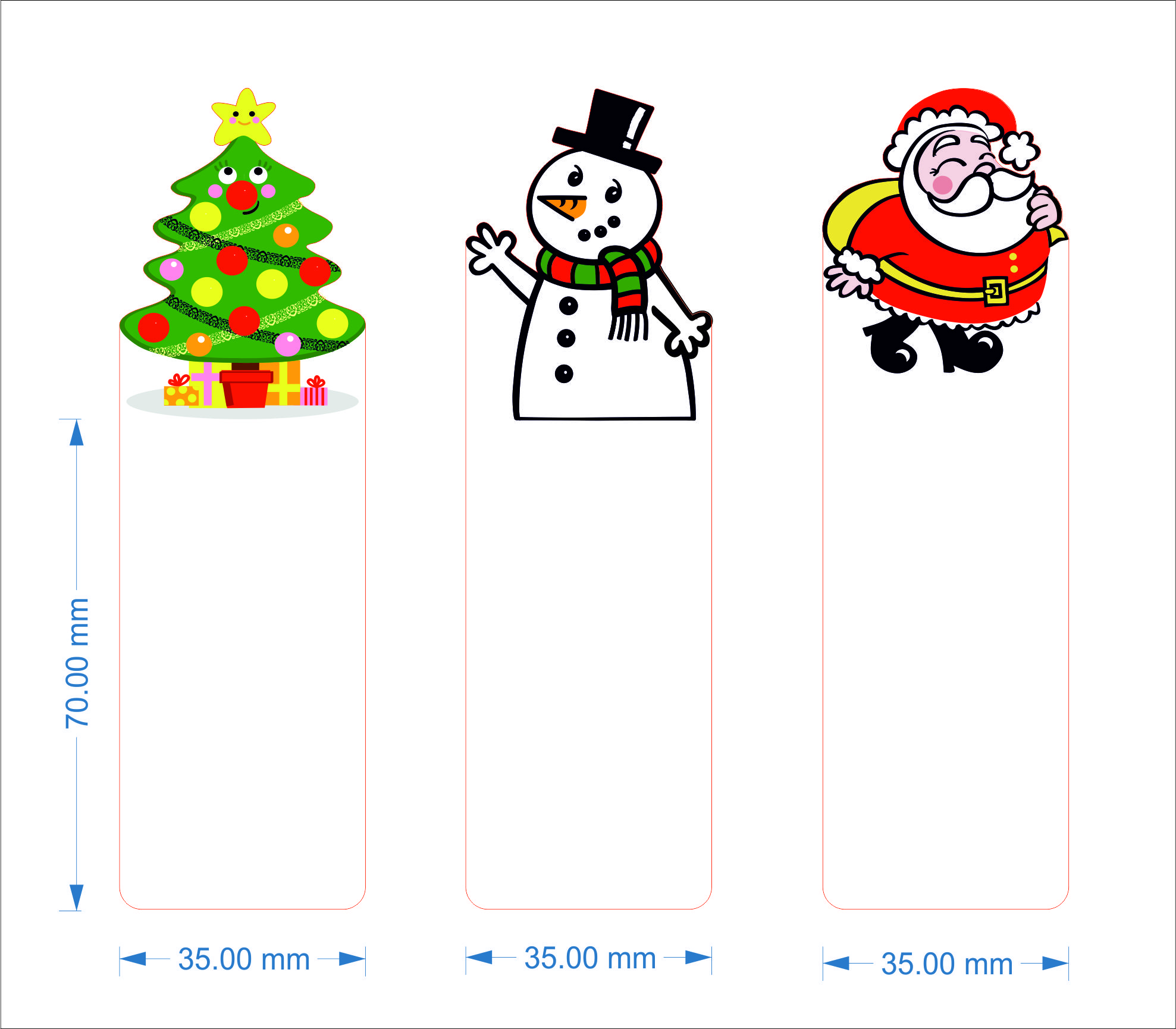 Christmas Bookmarks Templates