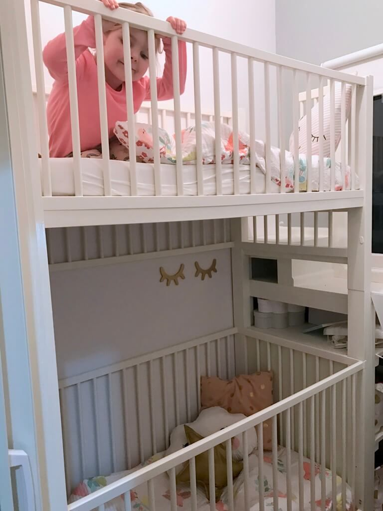 crib bunk bed hacked from ikea gulliver cots kidzroom recamara infantil dormitorio bebe und. Black Bedroom Furniture Sets. Home Design Ideas