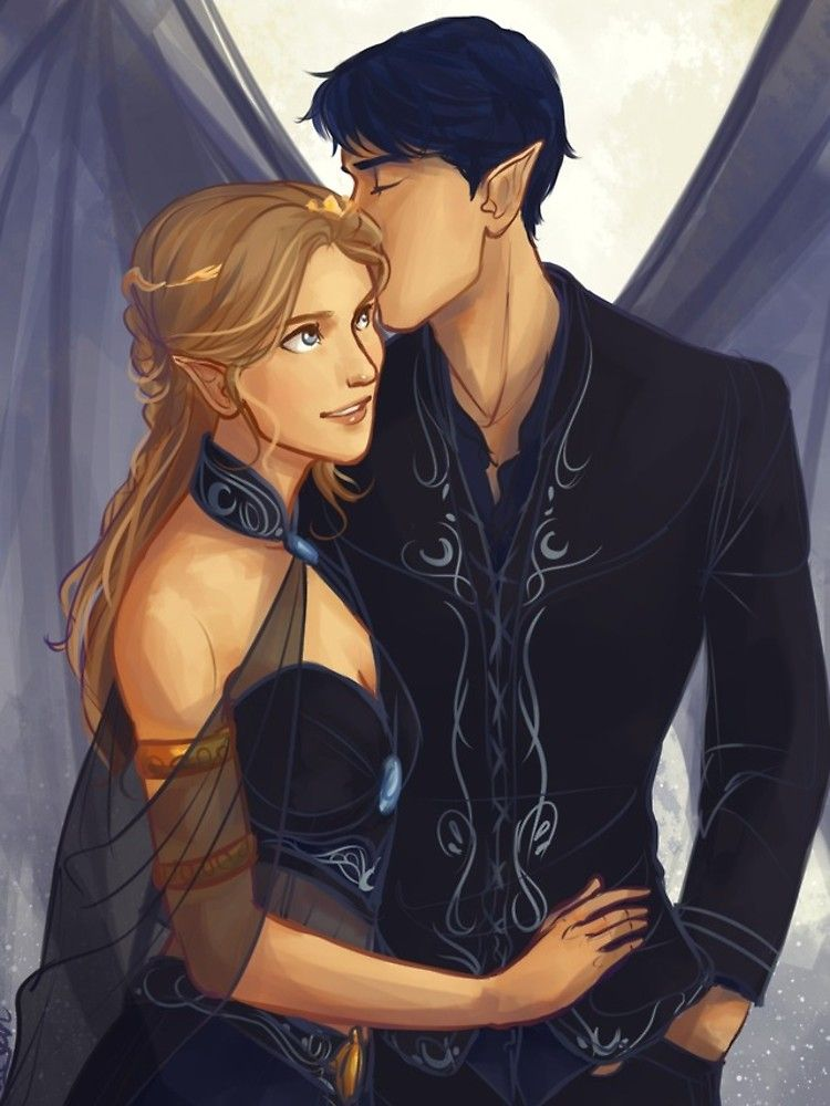 'Feyre and Rhysand' iPhone Case by taratjah