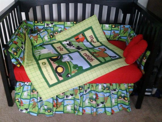 John Deere Baby Bedding New Custom Made Crib Set With Adorable Farm