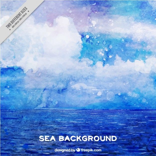 Download Watercolor Abstract Background Of Sea For Free Abstract