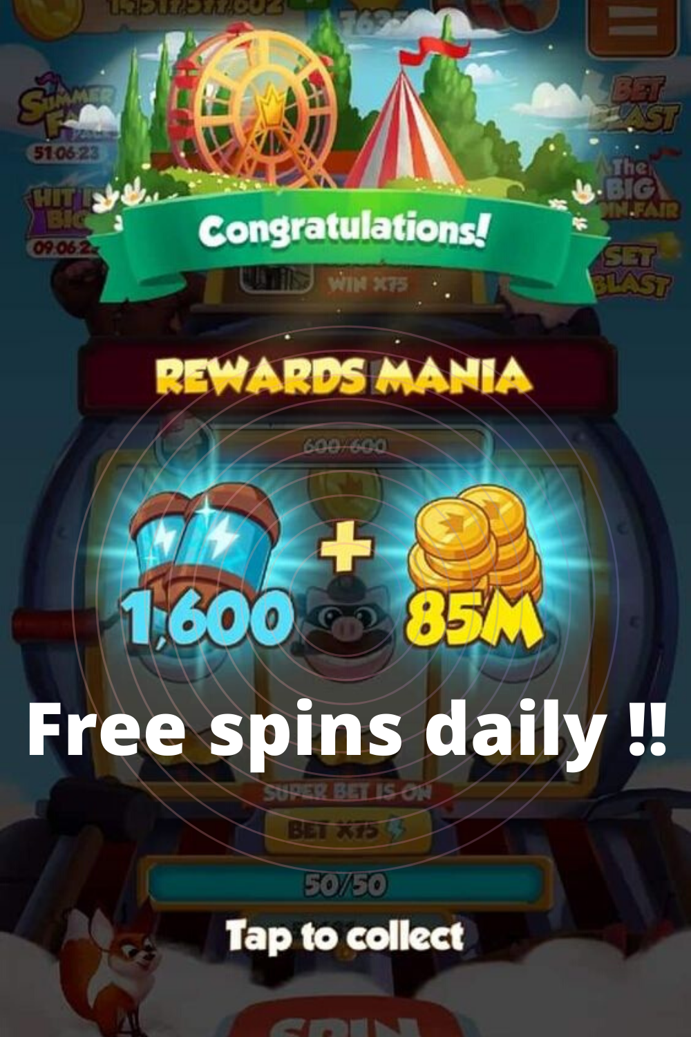 How To Get Free Spins In Coinmaster New Coin Master Hack Spinning Miss You Gifts