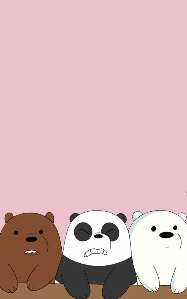 Panda Panpan Polar Bear Ice Bear Grizzly Bear Grizz We Bare Bears Boneka Hewan Beruang Kutub Kartun