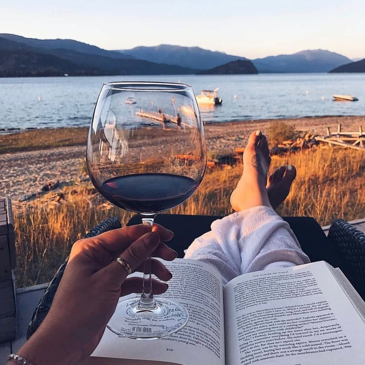 Book And A Glass Of Wine Looks Like A Good Combination What S