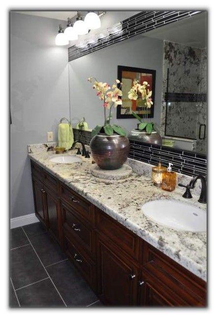 Sun City West Master Bathroom 1 Chrome Light Fixture Rustic
