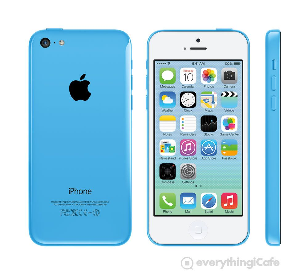What The Iphone 5c Looks Like With A White Front Panel With