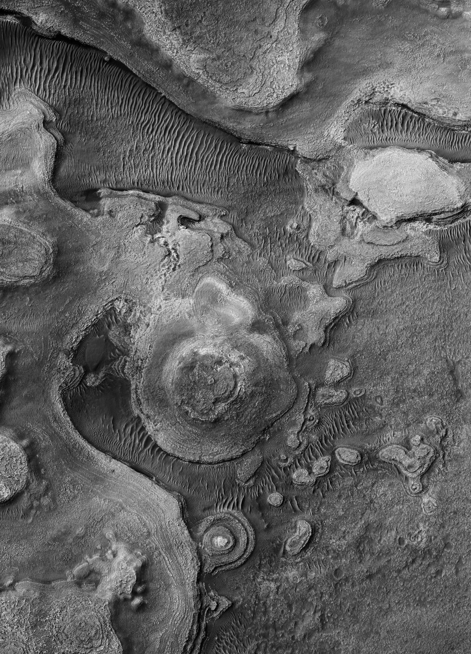 A Us Satellite Took These Beautiful Black And White Photographs Of Mars Black And White Photographs Black And White Photo