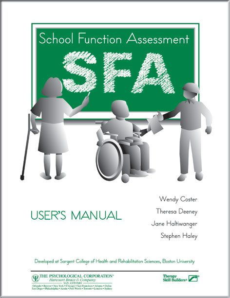 School Function Assessment Sfa Record Form Example HttpWww