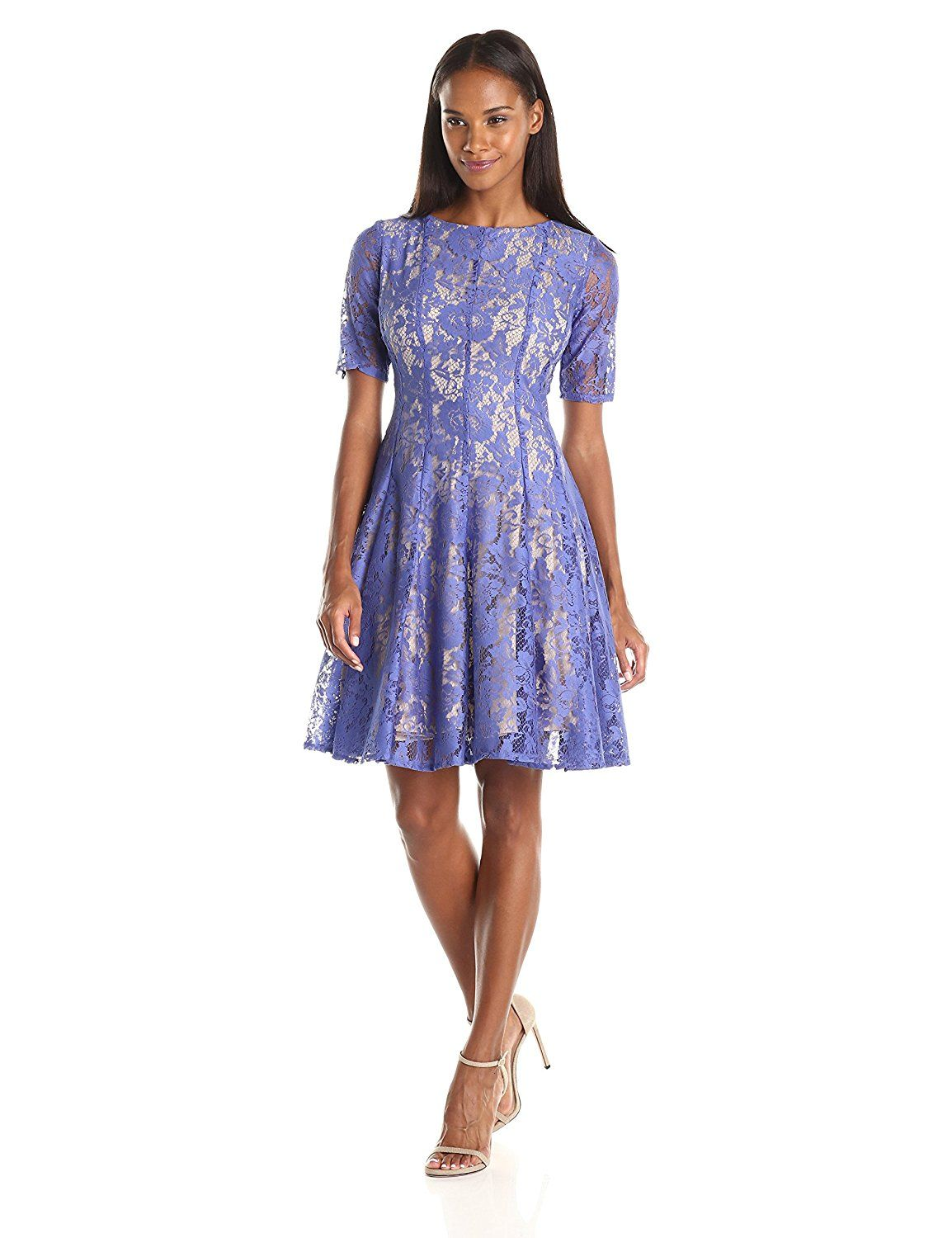 Julian Taylor Women's Elbow Sleeved All Over Lace Seam Down Dress ** Wow! I love this. Check it out now! : Dresses