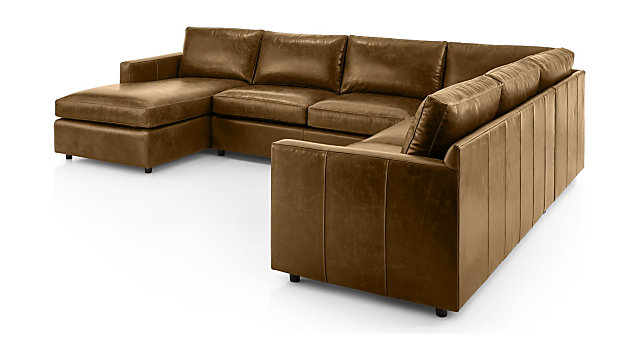 Barrett Leather 4 Piece Left Arm Chaise Sectional Reviews Crate And Barrel Sectional Chaise Modern Sectional