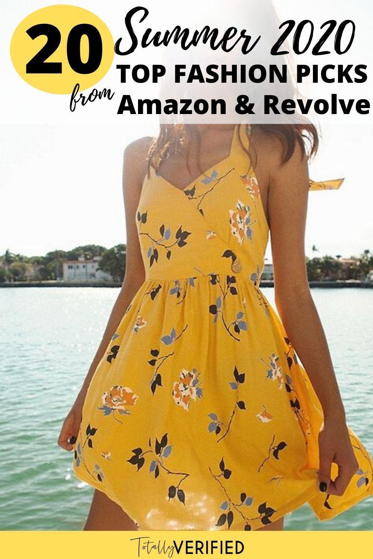 Women S Summer Fashion Finds On Amazon In 2020 Flirty Dresses Halter Mini Dress Yellow Dress Summer [ 1500 x 1000 Pixel ]