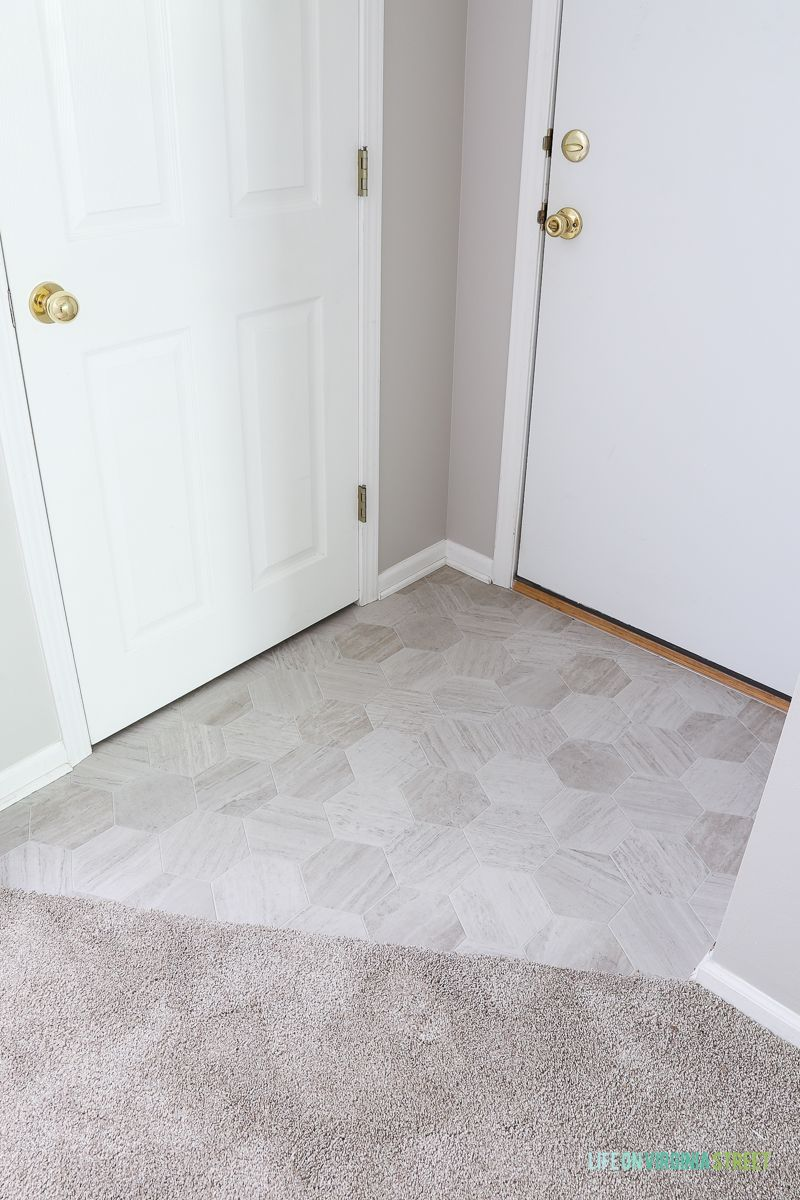 The Rental House Reveal House Rental Mannington Vinyl Flooring Bathroom Vinyl