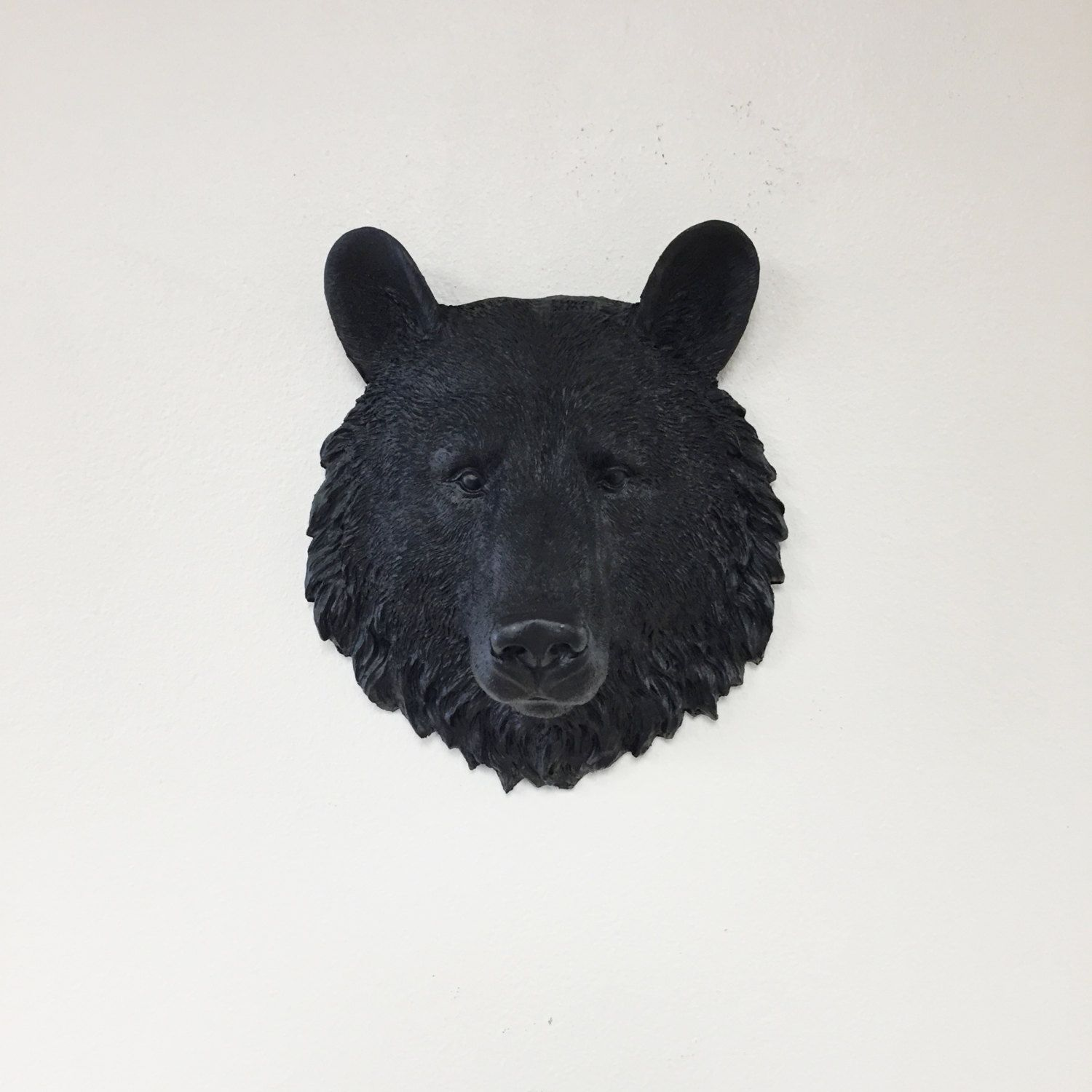 Any color or black bear head wall mount faux taxidermy 3d any color or black bear head wall mount faux taxidermy 3d wall amipublicfo Choice Image
