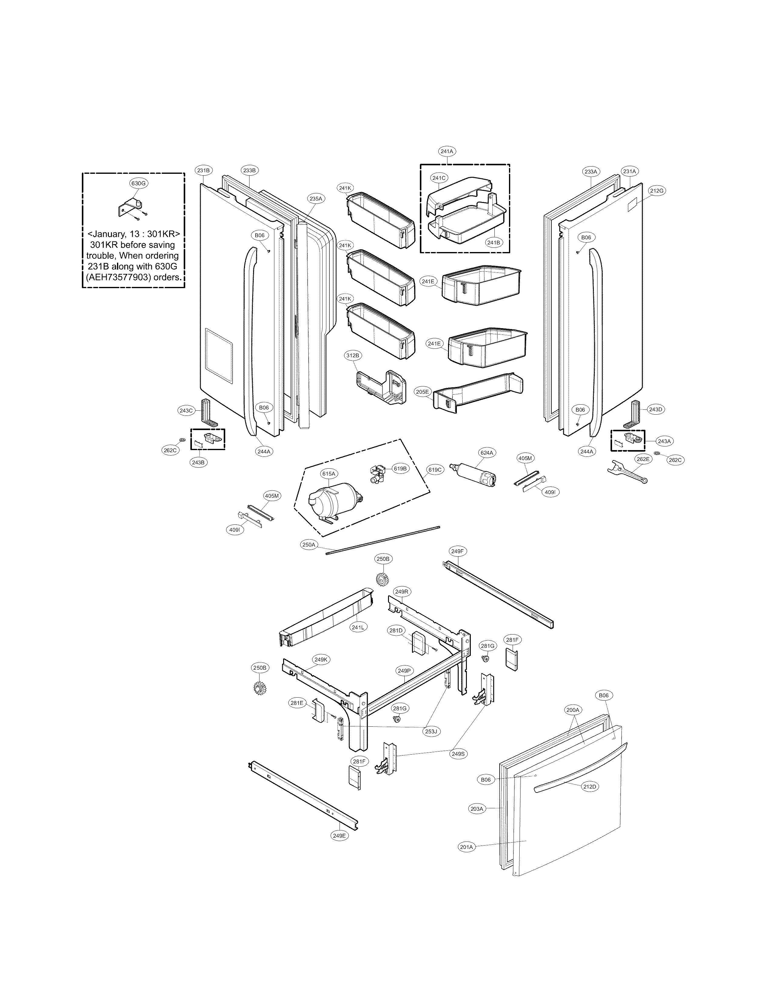 Door Parts Diagram Amp Parts List For Model