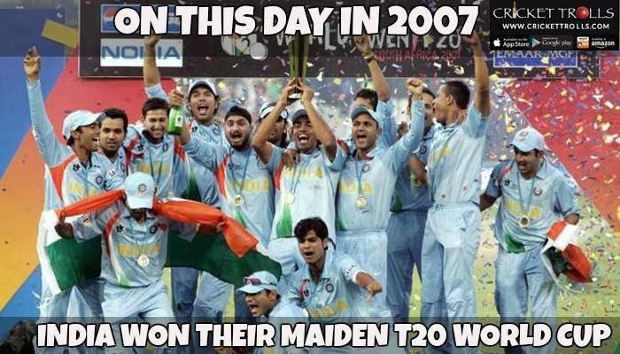 On This Day In 2007 India Defeated Pakistan To Lift The Inaugural T20 World Cup Http Ift Tt 1zz3e4d Cricket Teams Cricket World Cup