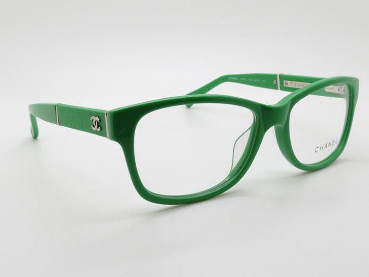 5f5eda74c87 Green Acetate Full-rim Frame Eyeglasses Branded Optical Frames Chanel 3232q…