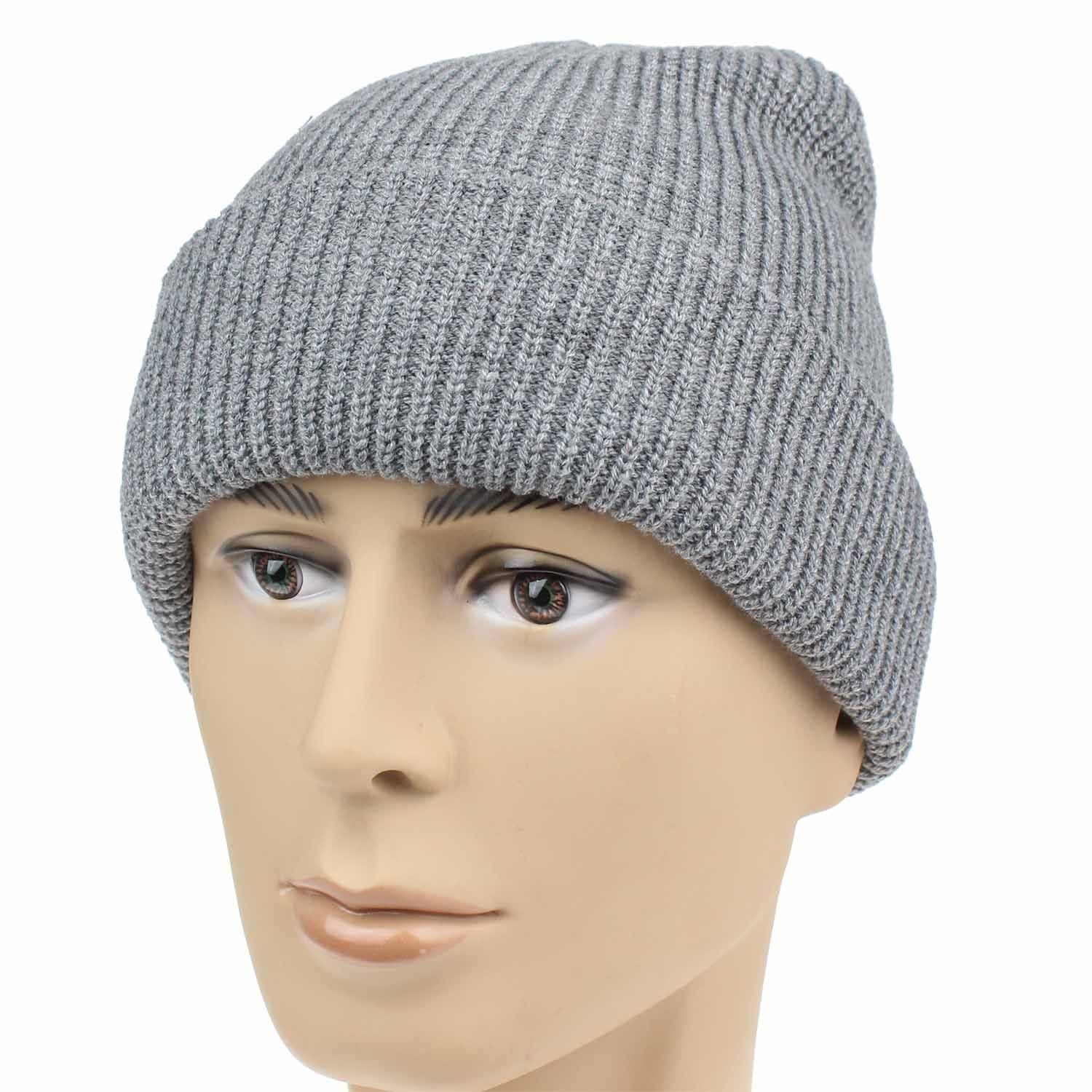 950ae5ace1d96f Hats & Caps, Men's Hats & Caps, Skullies & Beanies, Unisex Thick Cable Knit  Beanie Hat Winter Cap Skull Windproof For Men & Women - Grey - CP12MY8LELR # caps ...