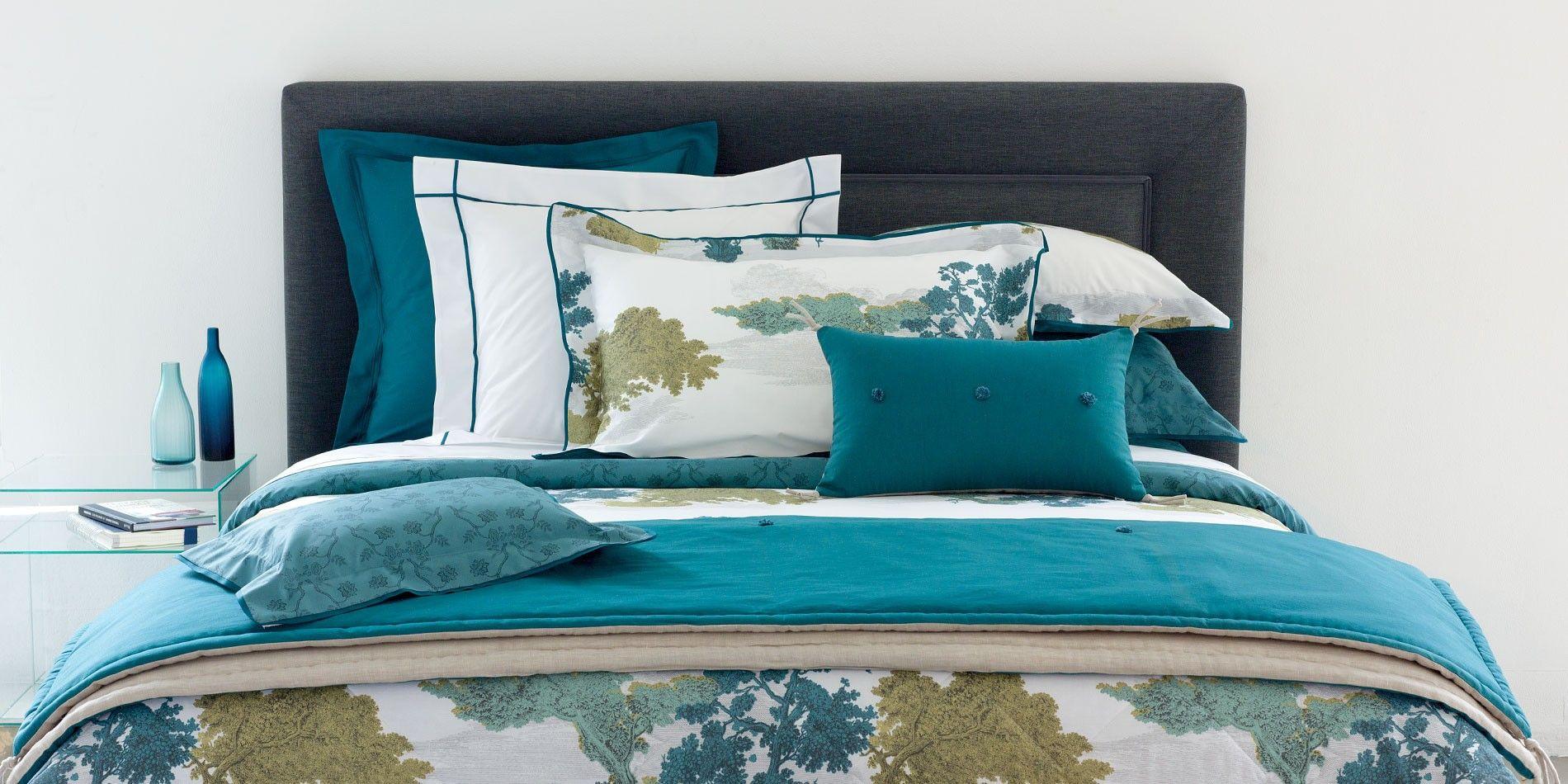 parure de lit calicot linge de lit parures de lit haut de gamme yves delorme home decor. Black Bedroom Furniture Sets. Home Design Ideas