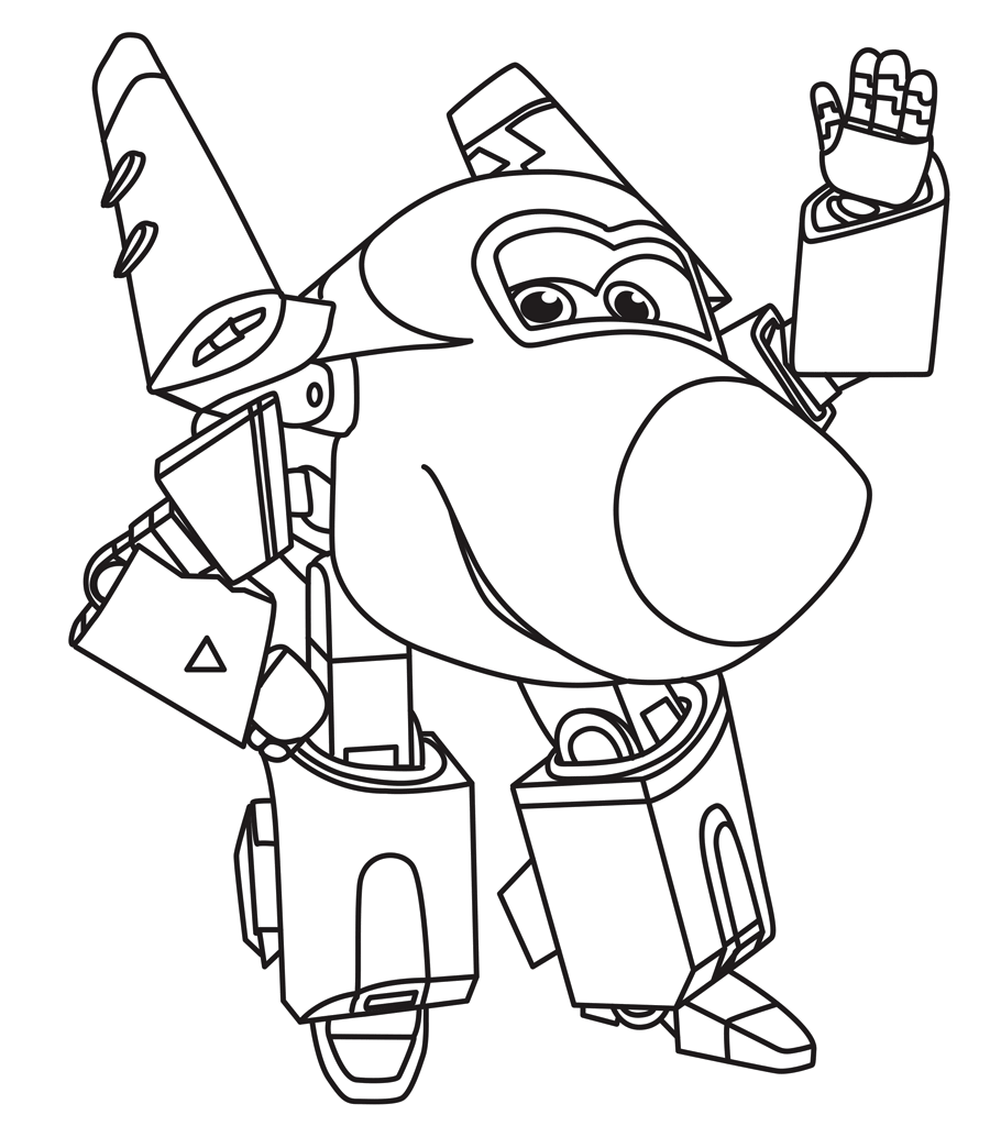 Super wings robocop transformer coloring pages animation for Super wings coloring pages