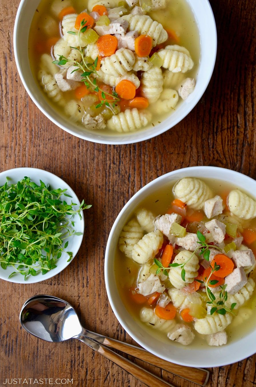 Easy Gnocchi Chicken Soup recipe from justataste.com #recipes ...