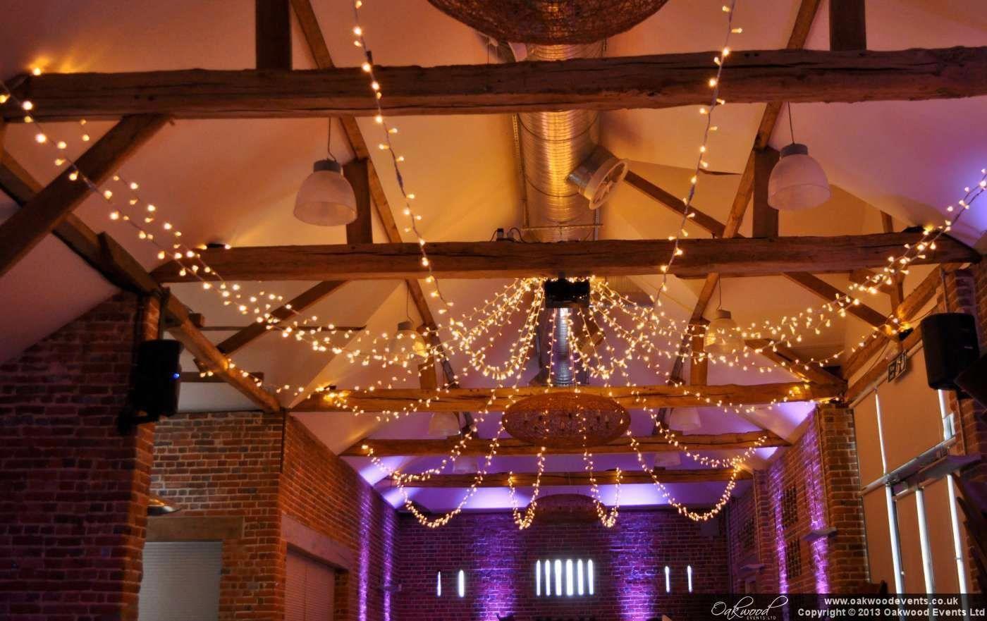 lights above dance floor wedding | Fairy lights and uplighting at Wasing Park #B...#dance #fairy #floor #lights #park #uplighting #wasing #wedding