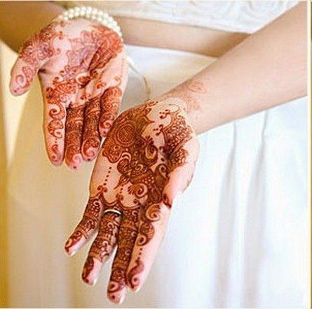 Palm edges - Pakistani Henna design