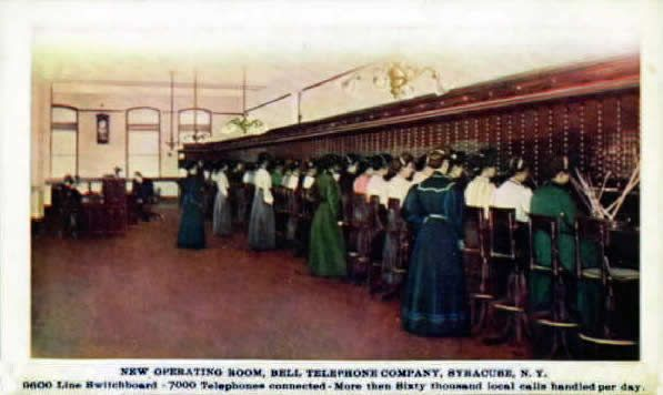 Bell Telephone Switchboard early 1900's Syracuse
