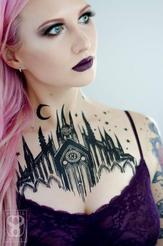 65+ Beautiful Chest Tattoos for Girls [Amazing Look