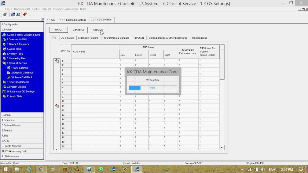 panasonic tde tda ip pbx call restrictions  [ 1280 x 720 Pixel ]