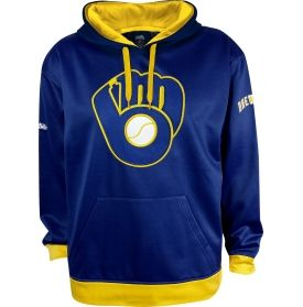 Stitches Men's Milwaukee Brewers Sherpa Pullover Royal Hoodie | DICK'S Sporting Goods