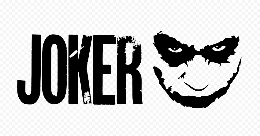 Joker Logo Black Text With Face Silhouette Joker Logo Joker Silhouette Png