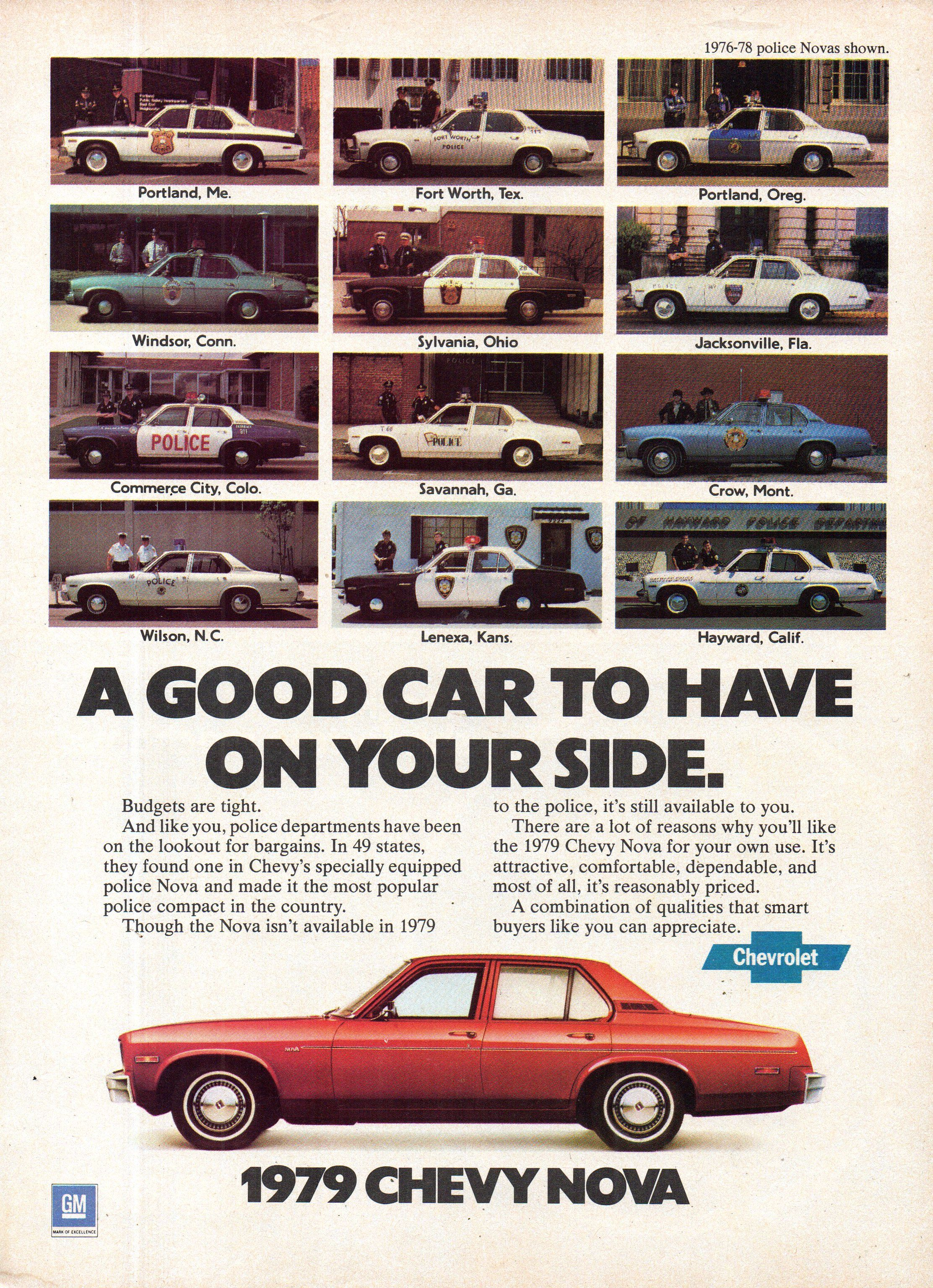 1979 Chevrolet Chevy Nova Sedan USA Original Magazine Advertisement