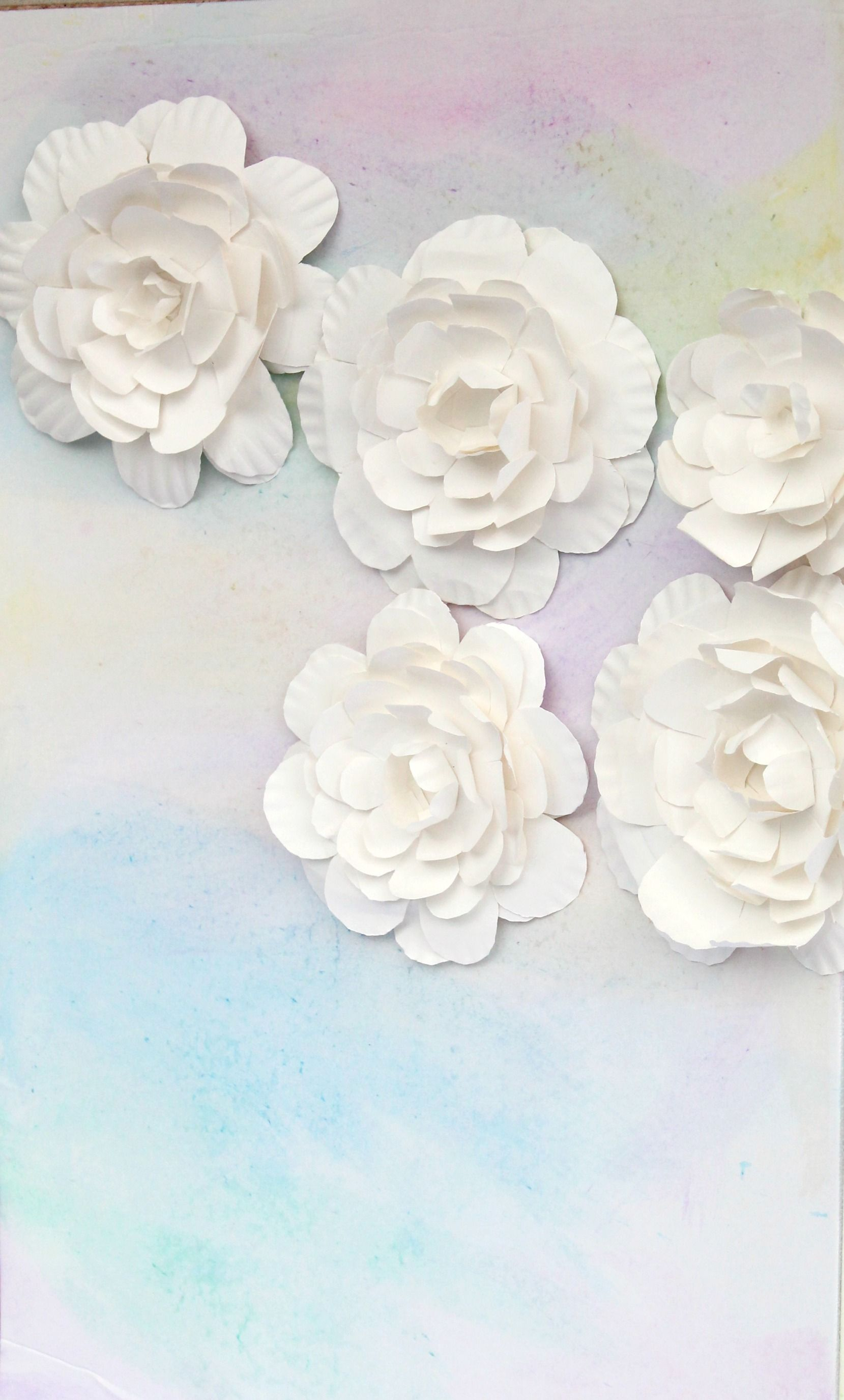 Watercolor Baby Shower Backdrop By Partiesforpenniescom Using Paper Plate Flowers