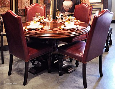 Red Leather Dining Room Chairs | Tuscany Dining Room | Pinterest ...