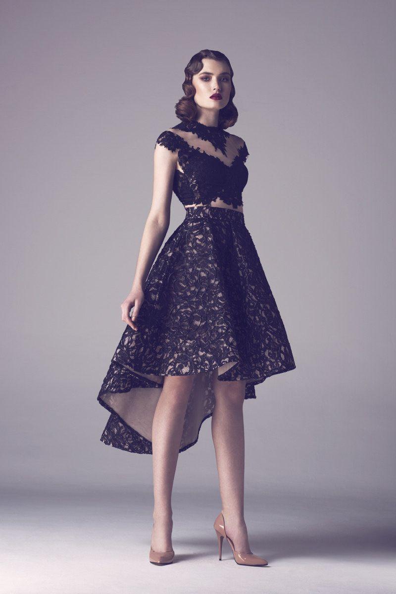 Wishesbridal Modern Jewel High Low Black #Lace A Line #PromDress ...