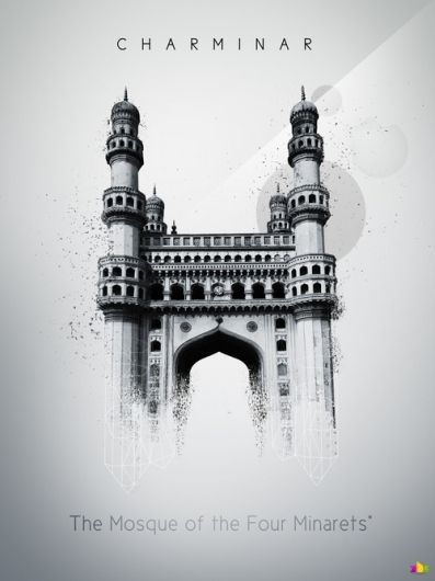 365 Concepts Charminar Perspective Drawing Architecture