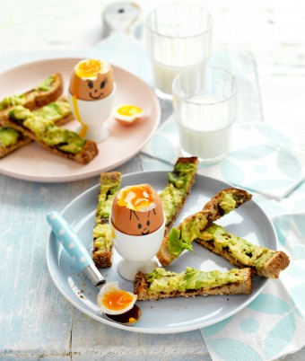 Photo of Funny Face Soft-boiled Eggs with Avocado and Vegemite Soldiers Recipe | myfoodbook