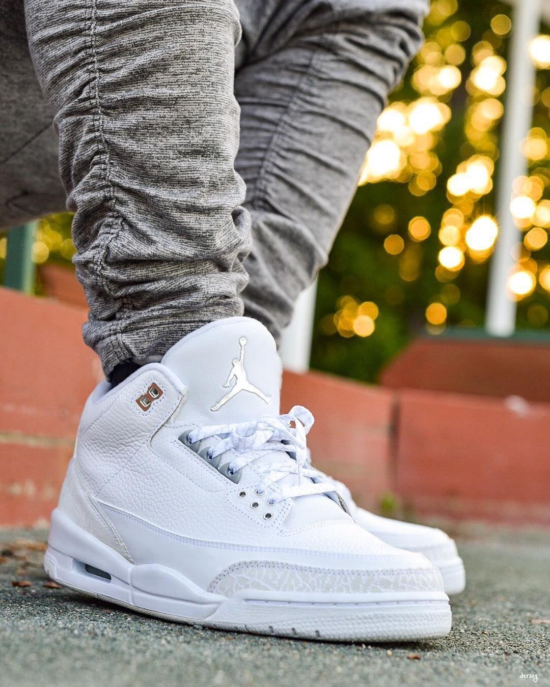 Air Jordan White | White sneakers men, White sneakers outfit, Swag ...