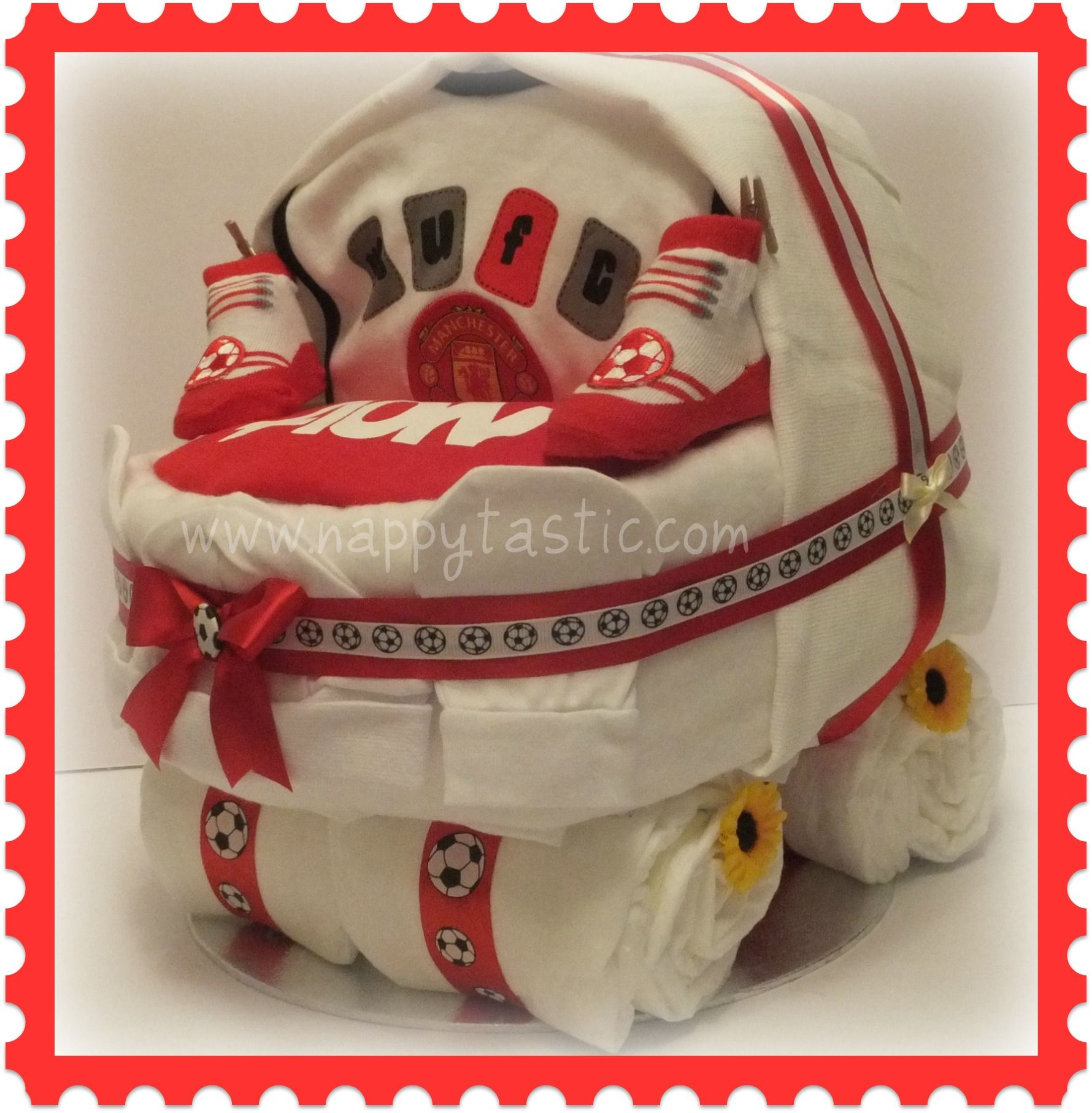 Baby Shower Decorations Manchester ~ Manchester united pram nappy cake there has been a hugh