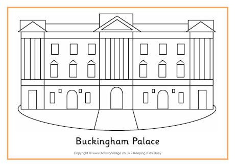 Buckingham Palace Colouring Page Buckingham Palace Royal