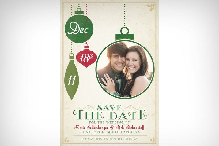 Christmas Save The Date - A Pair of Pears Design - minus the picture.