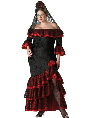 249d9dd47ac Fashion Bug Plus Size Tango Dress Sexy Seniorita Curvy Costume Dancer Salsa  Latin Style Dress www.fashionbug.us