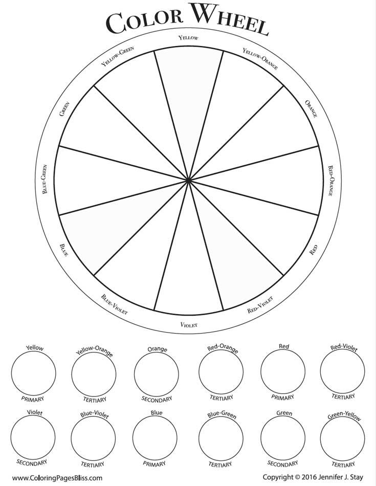 Adult Coloring Pages Color Wheel Art Art Handouts Art Worksheets