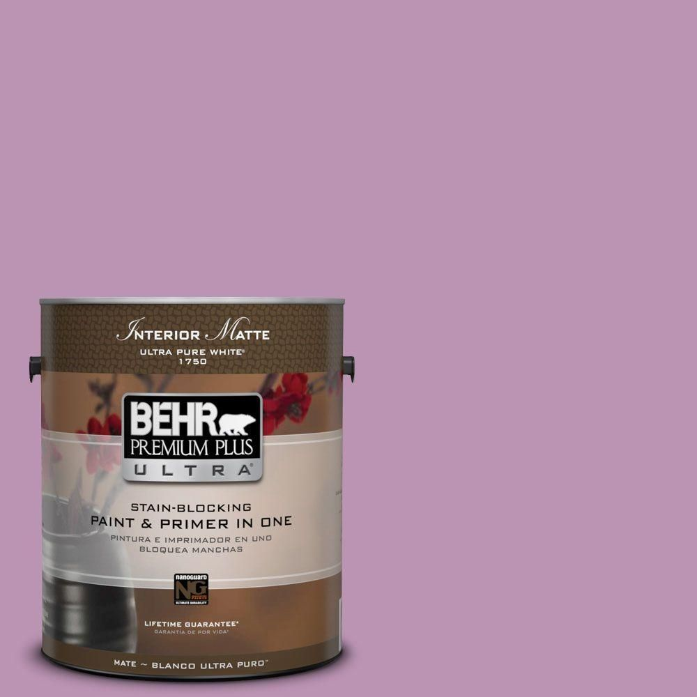 BEHR Premium Plus Ultra Home Decorators Collection 1 gal. #hdc-MD-10 Blooming Lilac Flat/Matte Interior Paint