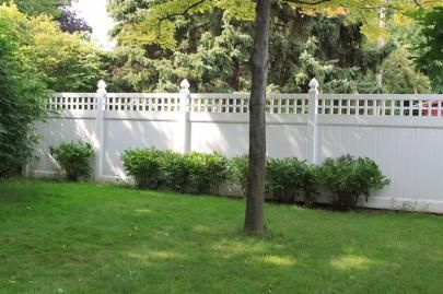 Courtyard Retreat Square Privacy Fence Vinyl Tongue And