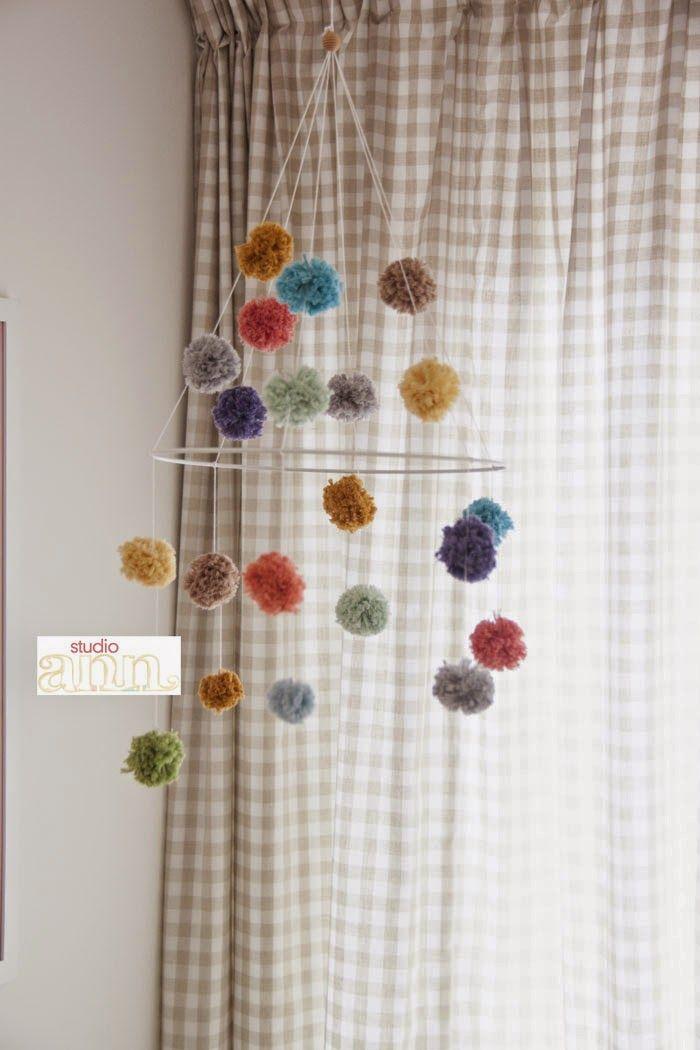 Studio Ann: DIY Mobiel voor de babykamer / DIY Mobile for the nursery