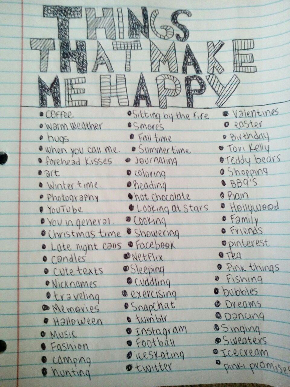 Things that make me happy. | Things that make me happy ...